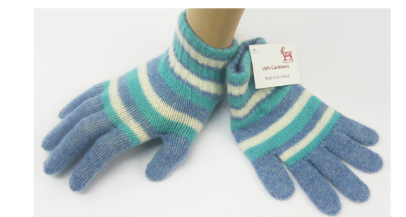 Childrens Cashmere Glove Striped 3