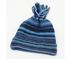 Childrens Lambswool Hat Blue