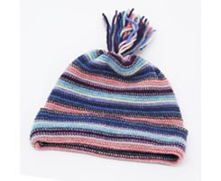 Childrens Lambswool Hat Lilac