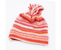 Childrens Lambswool Hat Pink