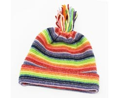Childrens Lambswool Hat Rainbow