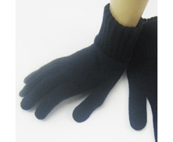 Mens Lambswool Glove Navy