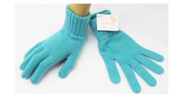 Ladies Cashmere Glove Azure