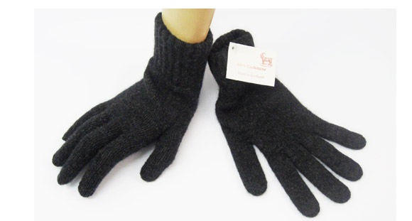 Ladies Cashmere Glove Charcoal